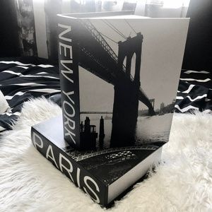 Paris New York Graphic Storage Book Boxes
